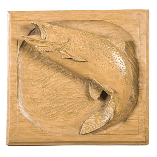 Brown Jumping Trout Plaque