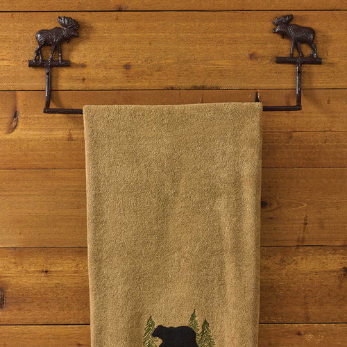 Brown Moose Towel Bar - 24 Inch - OUT OF STOCK UNTIL 08/06/2021