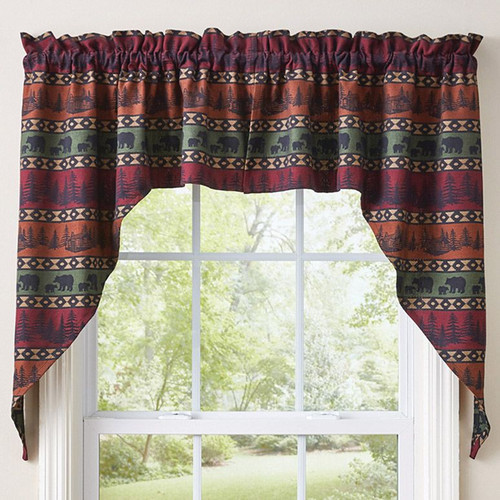 Mountain View Bear Window Treatments