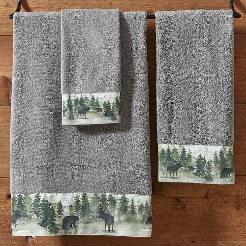 Mystic Forest Moose & Bear Towels