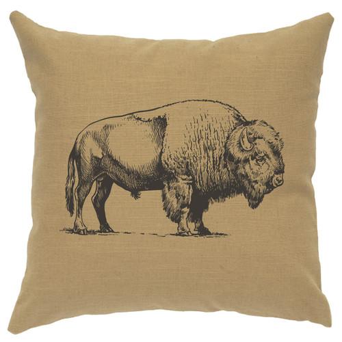 Buffalo Linen Pillow - Straw