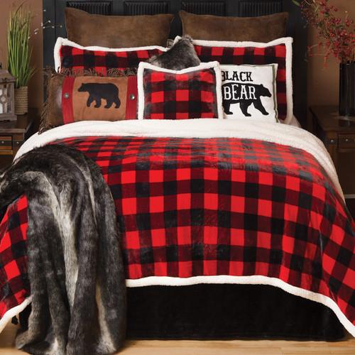 Buffalo Plaid Plush Bed Set - King