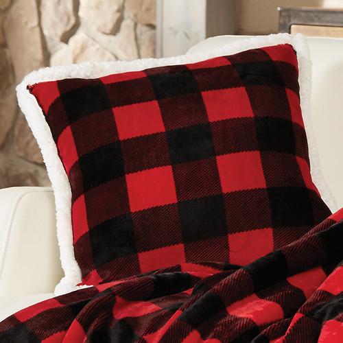 Buffalo Plaid Plush Pillow - OVERSTOCK