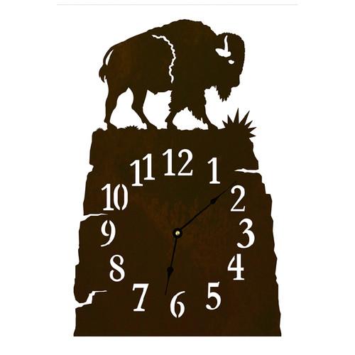 Buffalo Table Clock