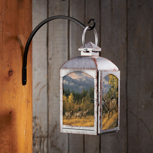 Bugling Elk Lantern - Silver