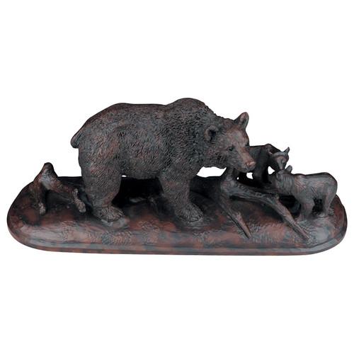 Burlwood Bear & Cubs Sculpture