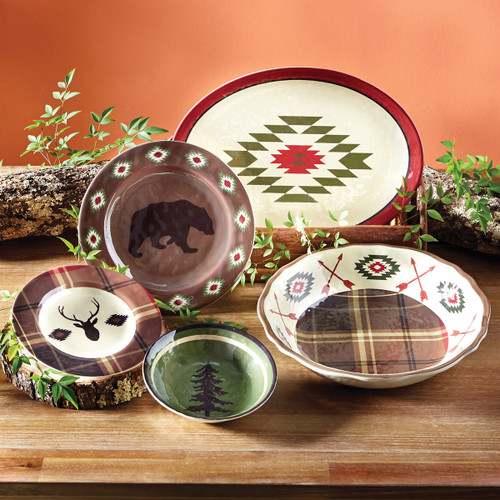 Native Bear Melamine Dinnerware