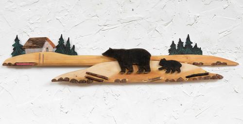 Cabin Bear & Cub Wall Hanging