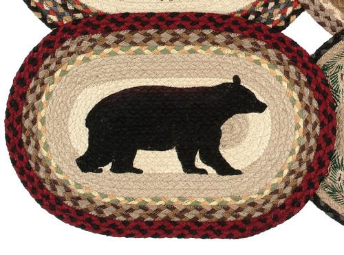 Cabin Bear Braided Jute Placemat