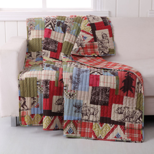 Cabin Collage Throw