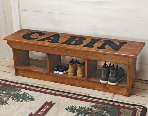 Cabin Cubby Bench