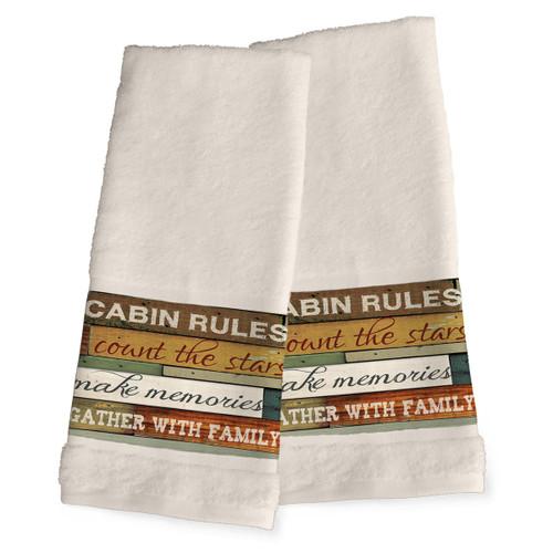 Cabin Getaway Hand Towels - Set of 2