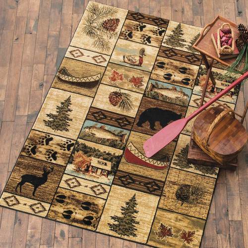 Cabin Home Rug - 8 x 10