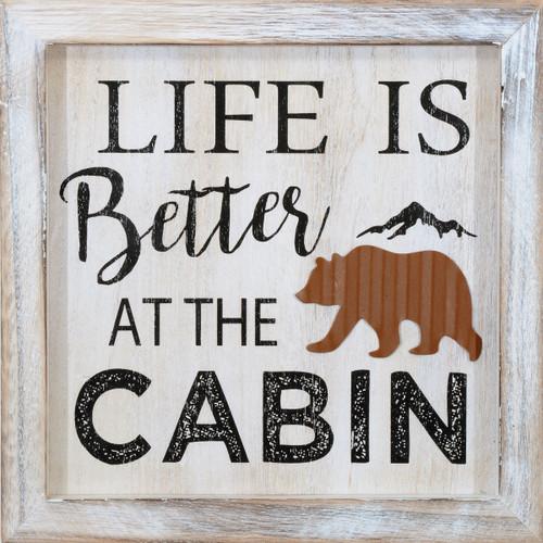Cabin Life Bear Wall Hanging