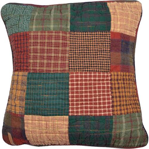 Cabin Plaid Square Pillow