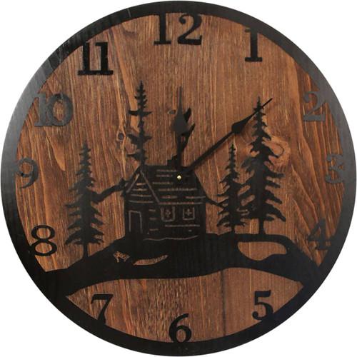 Cabin Scene Clock