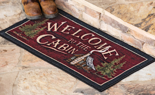 Cabin Welcome Accent Rug