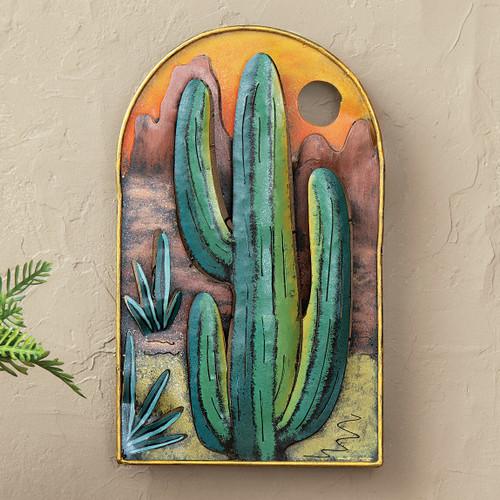 Cactus Ridge Metal Wall Art
