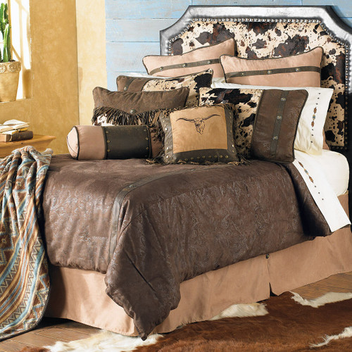 Caldwell Cowhide Bed Set - Twin