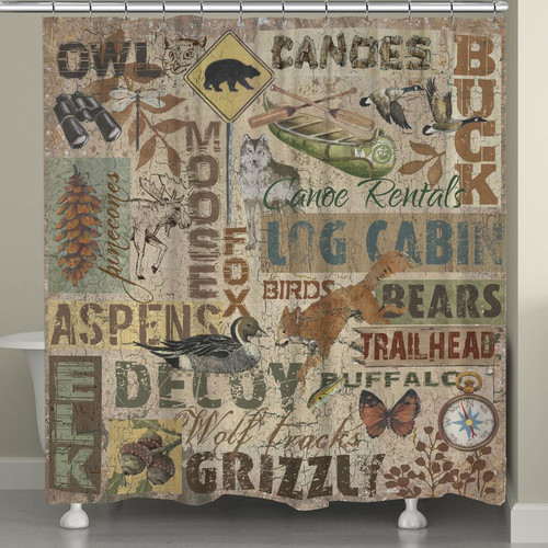 Camp Life Shower Curtain
