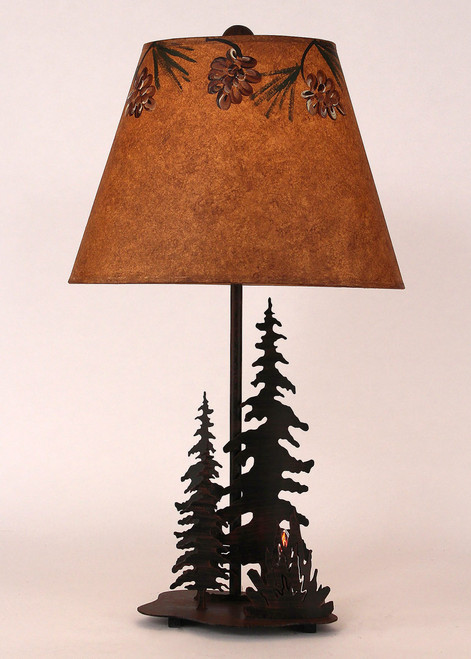 Campfire Table Lamp with Nightlight
