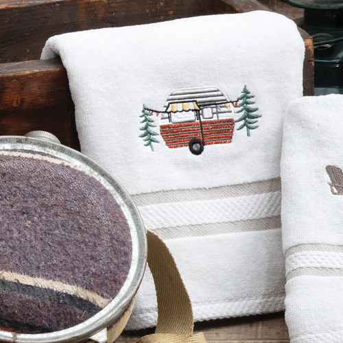 Camping Out Hand Towel