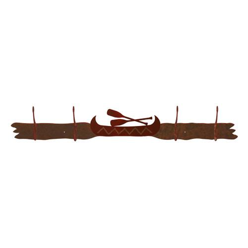 Canoe 4 Hook Coat Rack