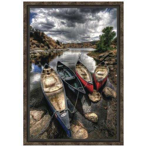Canoe Break Framed Canvas