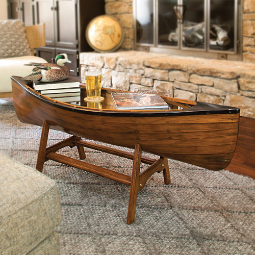 Canoe Lodge Coffee Table - BACKORDERED UNTIL 10/1/2021