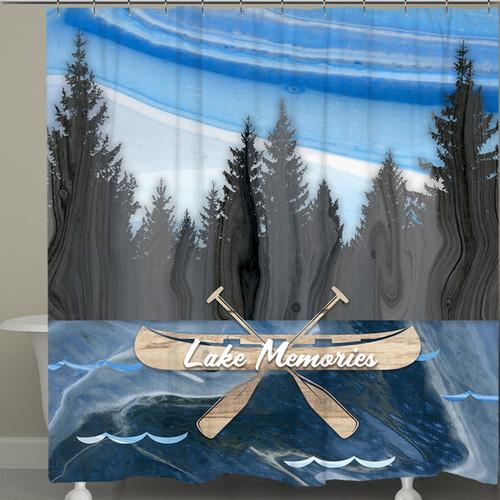 Canoe Memories Shower Curtain