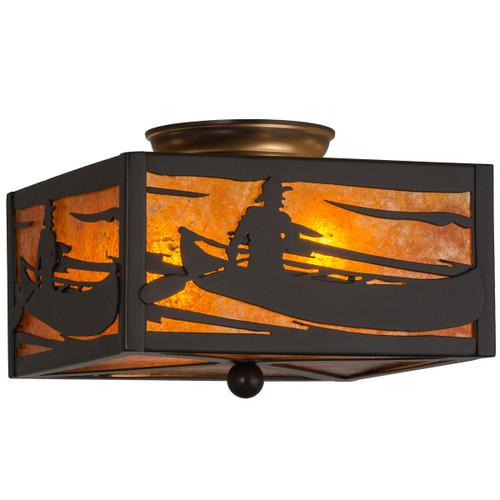 Canoe Sunset Flush Light Fixture