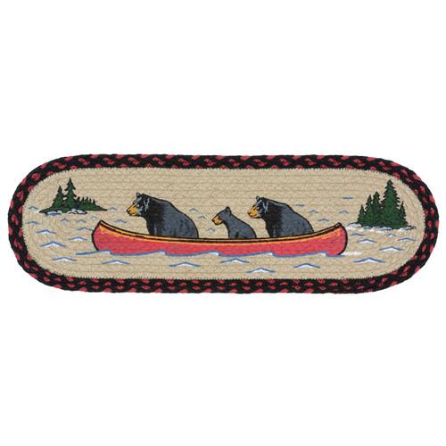Canoeing Bears Braided Jute Stair Tread