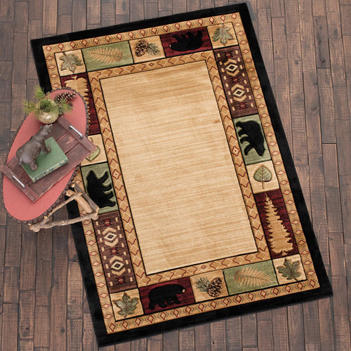 Pine Forest Bears Rug Collection