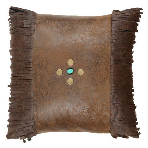 Canyon Shadows Brown Fringed Pillow