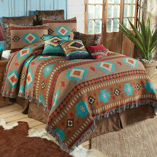 Canyon Springs Tapestry Coverlet - King