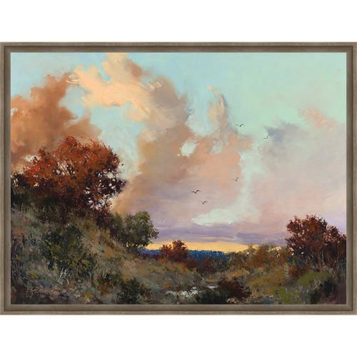 Canyon Sunset Framed Canvas