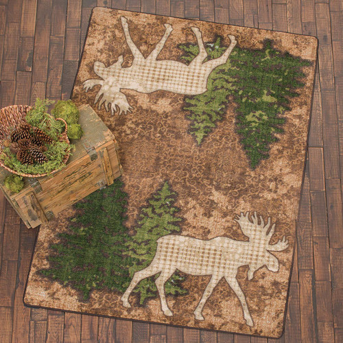 Pine Gulch Moose Rug Collection