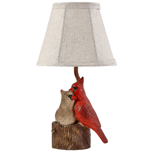 Cardinal Couple Accent Lamp - BACKORDERED UNTIL 11/18/2021