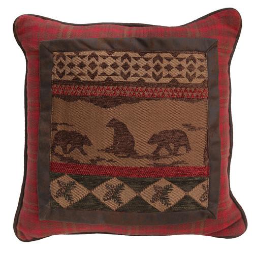 Cascade Lodge Bear Scene Pillow
