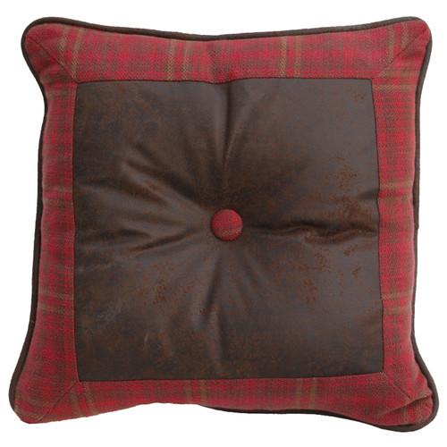 Cascade Lodge Faux Leather Pillow