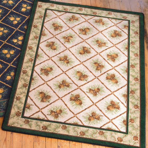 Pinecone Haven Natural Rug Collection