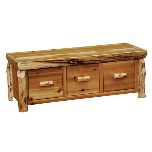 Cedar 3 Drawer Entry Bench