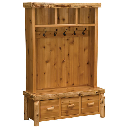 Cedar Log Entry Locker