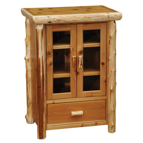 Cedar Log Media Cabinet