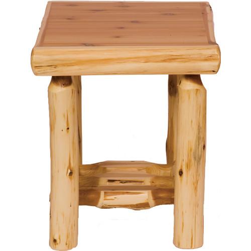 Cedar Log Open End Table