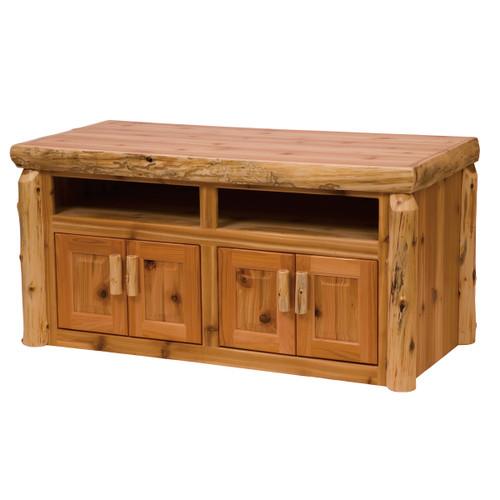Cedar Log Widescreen TV Stand