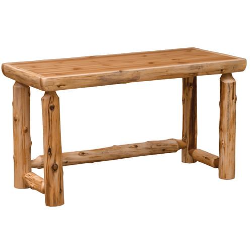 Cedar Simplified Open Writing Desk - Standard Finish