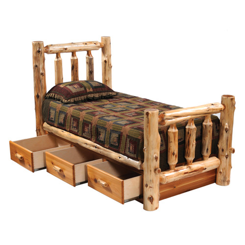 Cedar Underbed 3 Drawer Dresser - Queen/King