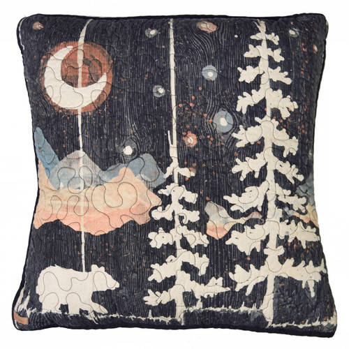 Celestial Bear Square Pillow
