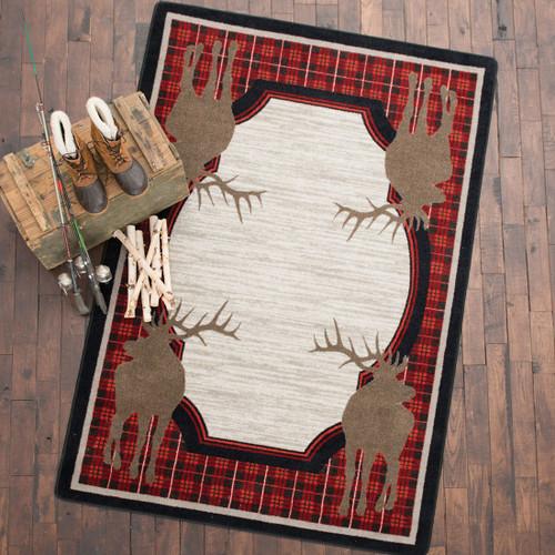 Plaid Elk Rug Collection